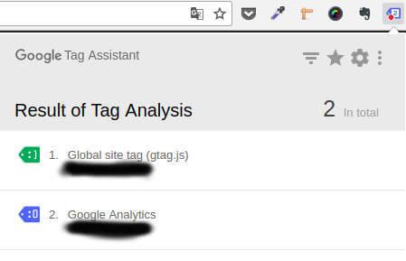 gtag.js v rozšíření Tag Assistant